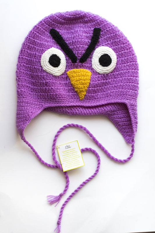 "Crocheted hat ""Angry bird"""