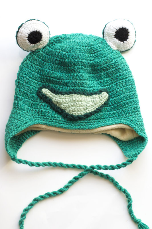 "Crochetted hat ""Frog"""